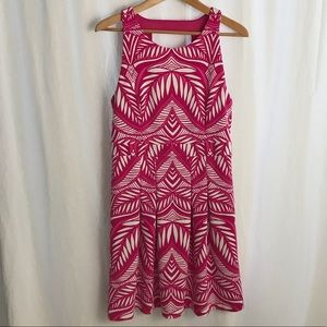 INC pink and white dress